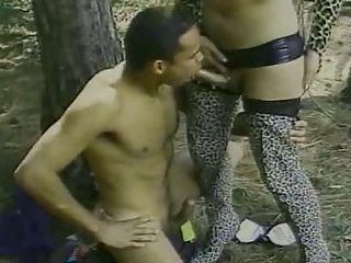 Amazing 69 & fucking in the forest