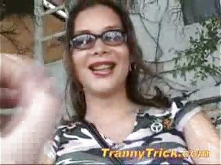 Tgirl Ivana fucked by a stranger