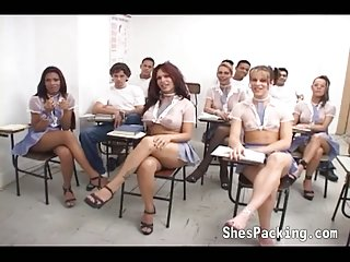 White tutor fucking hard black shemale student