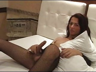 Naughty solo in bed