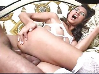 Sexy tranny in lingerie banged in ass