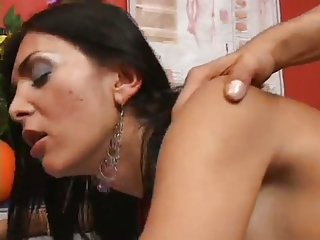 Brunette Tbabe fucked by dude well