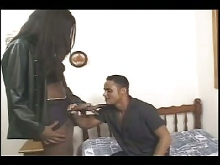 Huge dick of black Tgirl is amazing