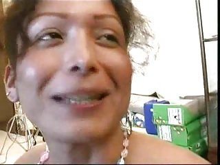 Milf shemale gives a head before anal
