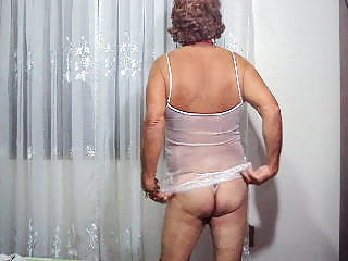 Mature crossdresser at home