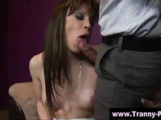 Hardcore with a tranny tgirl