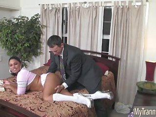 Busty tranny Doll ass banged doggystyle