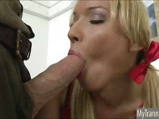 Sexy TS cheerleader analed by her doctor