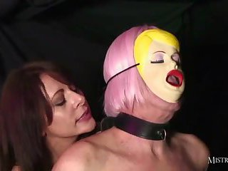 Dominant Mistress fucks her sexdoll then he eats cum from her wet pussy