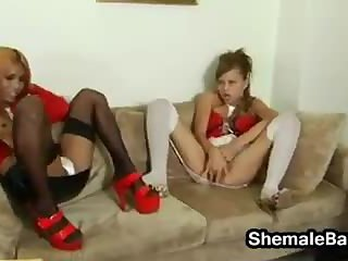 Two Shemales Having Sex