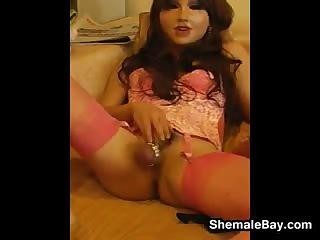 Shemale Doll Masturbating