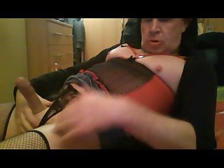 Mature TG shows her cut cock getting better with age